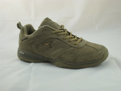 Pánské boty Power POW551 kožené (Barva hnědá, Velikost 47)