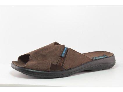 Pánské pantofle - nazouváky Adanex PD 16594 (Barva hnědá, Velikost 46)