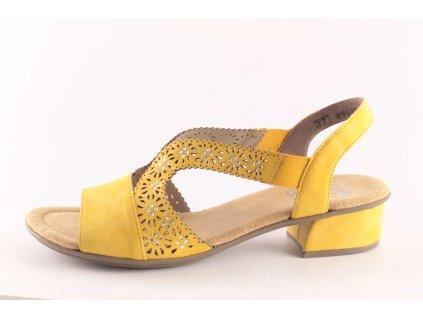Dámská obuv letní Rieker DL V6216-68 hořčice (Barva žlutá, Velikost 41)