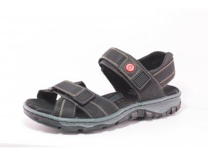 Dámská obuv letní Rieker DL 68851-00 černá (Barva černá, Velikost 42)