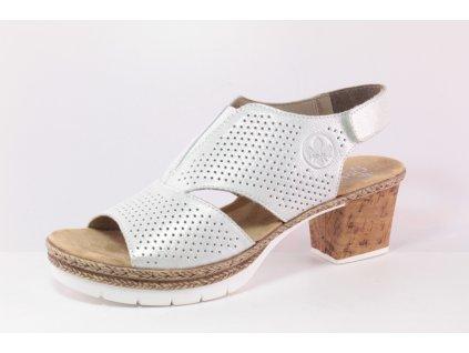 Dámská obuv letní Rieker DL V2945-80 (Barva Bílá, Velikost 41)