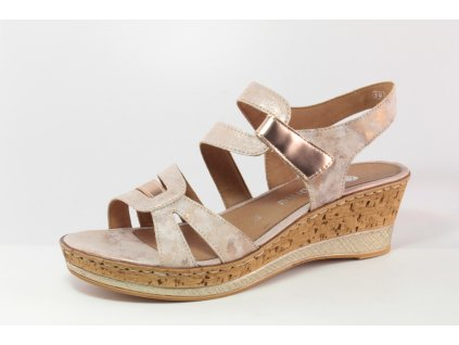 Dámská letní obuv Rieker DL D4751-31 Remonte (Barva růžová, Velikost 41)