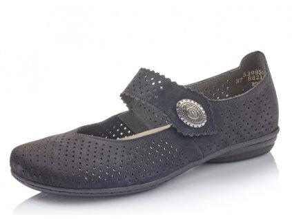 Dámská obuv celoroční Rieker DC 53985-00 (Barva černá, Velikost 42)