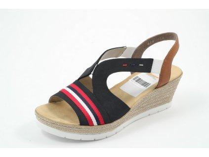 Dámská obuv letní Rieker DL 619S6-14 (Barva Modrá, Velikost 41)
