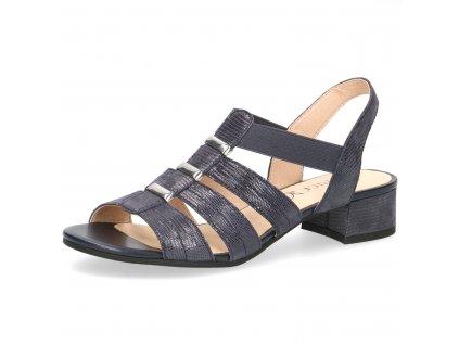 Dámské boty Caprice 9-28204/24/90 temně mordé (Barva Modrá, Velikost 42)