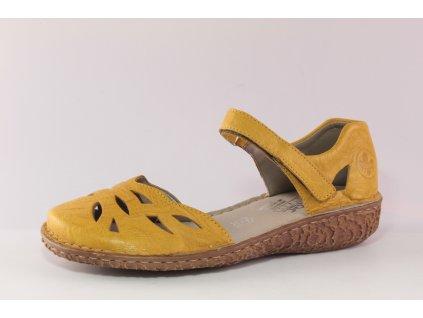 Dámské boty Rieker DL M0967-68 (Barva žlutá, Velikost 41)