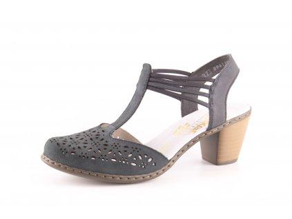 Dámské boty letní Rieker DL 40969-14 temně modré (Barva Modrá, Velikost 41)
