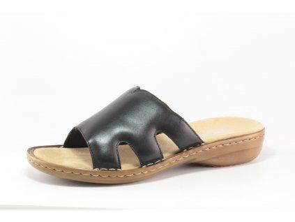Dámské boty letní Rieker DL 60824-00 kožené AKCE (Barva černá, Velikost 42)
