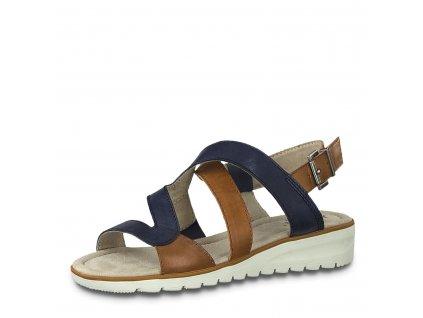 Dámská obuv letní Jana DL 8-28650/24 modré HALUXY (Barva Modrá, Velikost 41)
