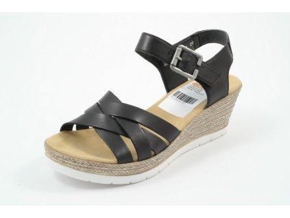 Dámské sandály Rieker DL 61963-00 (Barva černá, Velikost 41)