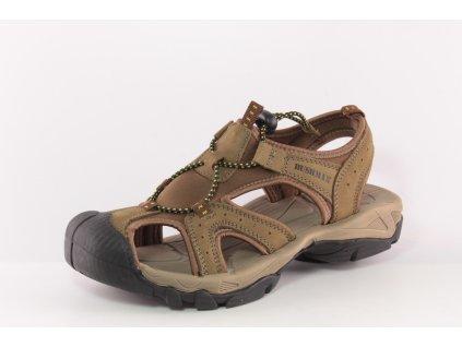 Chlapecné sandály BUSHMAN DL S320006 kožené AKCE (Barva hnědá, Velikost 41)