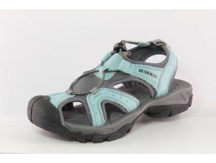 CHlapecké sandály BUSHMAN DL S320006B kožené AKCE (Barva světle modrá, Velikost 41)