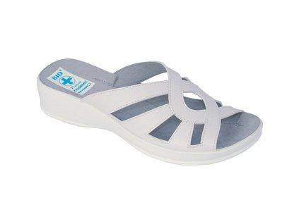 Dámské pantofle Adanex DD 11444 bílé (Barva Bílá, Velikost 41)