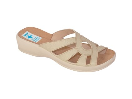 Dámské pantofle Adanex DD 11441 béžové (Barva béžová, Velikost 41)