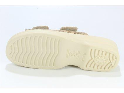 Dámské pantofle Adanex DD 24631 HALUXY (Barva béžová, Velikost 41)