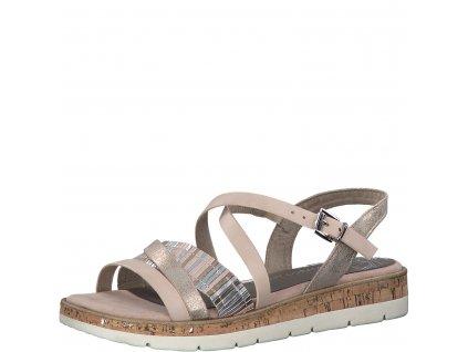 Dámské boty letní Marco Tozzi DL 2-28406/24 lososová barva (Barva růžová, Velikost 42)