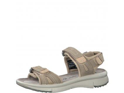 Dámské boty letní Marco Tozzi DL 2-28531/24 KOŽENÉ (Barva béžová, Velikost 42)