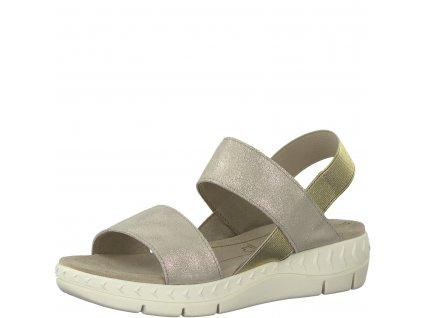 Dámské boty letní Marco Tozzi DL 2-28522/24 STÁLICE (Barva béžová, Velikost 41)