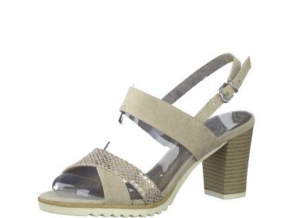 Dámské boty letní Marco Tozzi DL 2-28700/24 (Barva béžová, Velikost 41)