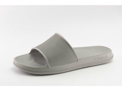 Pánské nazouváky COQUI DO 7081 jemně šedé (Barva šedá, Velikost 46)