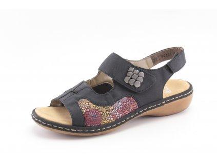 Dámská obuv letní Rieker DL 65989-14 i na HALUXY (Barva Modrá, Velikost 42)