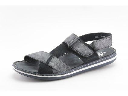Pánské boty letní Rieker DL 21070-14 temně modré (Barva Modrá, Velikost 46)