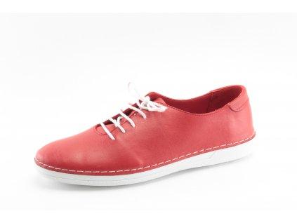 Dámské boty celoroční DESKA DC 35704 kožené (Barva červená, Velikost 41)