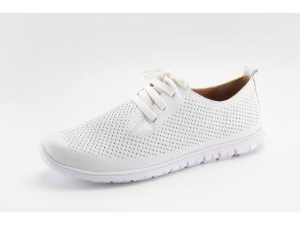 Dámské boty DESKA DC 37903 kožené bílé (Barva Bílá, Velikost 40)