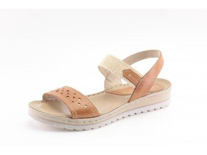 Dámské sandály Marcessini DL 340045 kožené AKCE (Barva hnědá, Velikost 41)