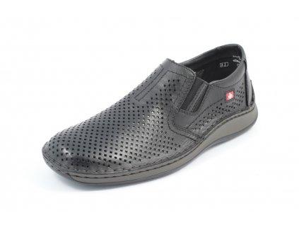 Pánské boty Rieker PC 05297-00 kožené (Barva černá, Velikost 46)