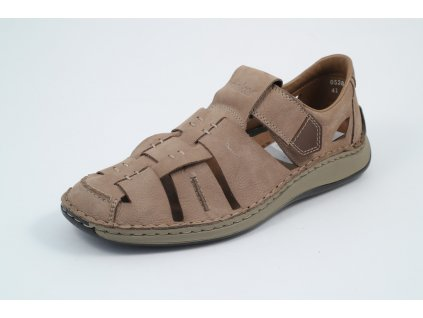 Pánské boty Rieker PC 05285-20 kožené (Barva hnědá, Velikost 46)