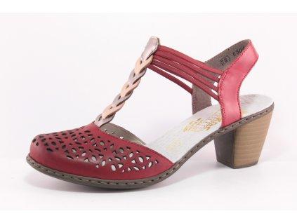 Dámské boty letní Rieker DL 40978-33 (Barva červená, Velikost 41)