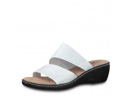Dámské boty letní Jana DL 8-27205/24 kožené AKCE (Barva Bílá, Velikost 41)