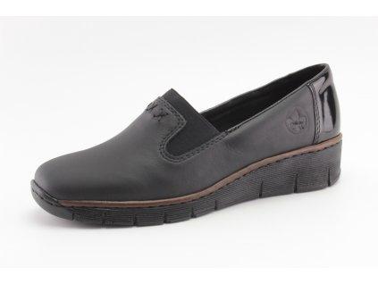 Dámské boty celoroční Rieker DC 53762-01 KOŽENÉ (Barva černá, Velikost 42)