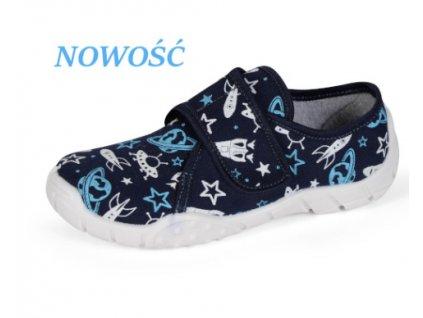 Dětské papuče Tomek T9 (Barva Modrá, Velikost 25)