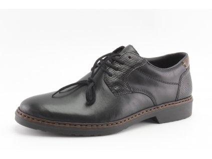 Pánské boty Rieker PC 16541-02 kožené vel. 40-47 (Barva černá, Velikost 47)