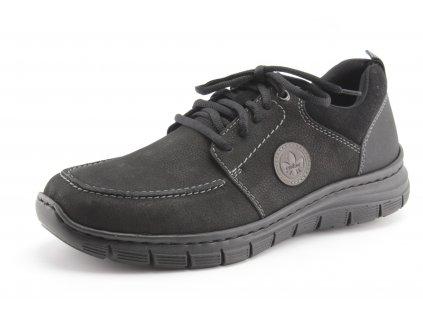 Pánské boty Rieker PC B5630-00 kožené vel. 41-47 (Barva černá, Velikost 47)