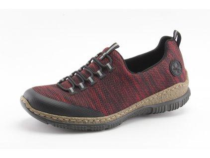 Dámské boty Rieker DC N32M5-00 (Barva červená, Velikost 42)