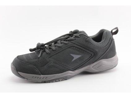 Pánská obuv Power POW813 kožené šedé vel. 39-46 (Barva šedá, Velikost 46)