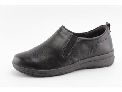 Dámské boty DC 80D0-66 šíře H kožené (Barva černá, Velikost 42)