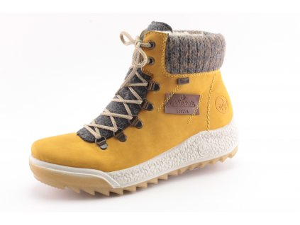 Dámské zimní boty Rieker DZ Y4730-68 (Barva žlutá, Velikost 42)