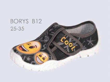 Dětské papuče Borys B12 smailík (Velikost 25)