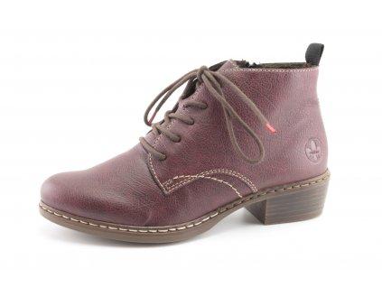 Dámské boty Rieker DZ Y0843-35 vínové (Barva bordó, Velikost 42)