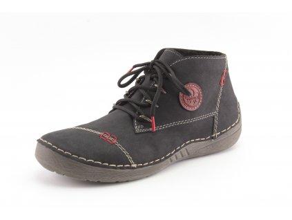 Dámské zimní boty Rieker DZ 52502-00 černé (Barva černá, Velikost 42)