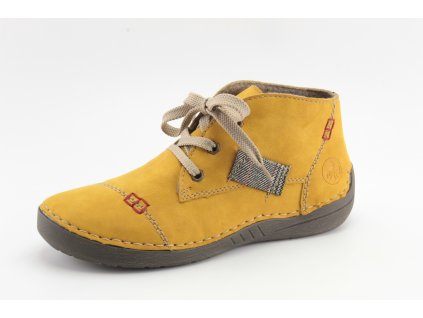 Dámské boty Rieker DZ 52543-69 hořčicové (Velikost 41)