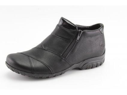 Dámské zimní boty Rieker DZ L4673-01 černé kožené (Barva černá, Velikost 42)