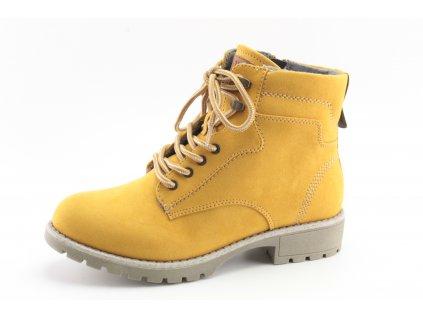 Dámská obuv zimní Jana DZ 8-25266/25 šíře H SKVĚLÁ CENA (Barva žlutá, Velikost 41)