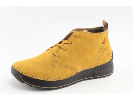 Dámské zimní boty Rieker DZ 51510-68 (Barva žlutá, Velikost 41)