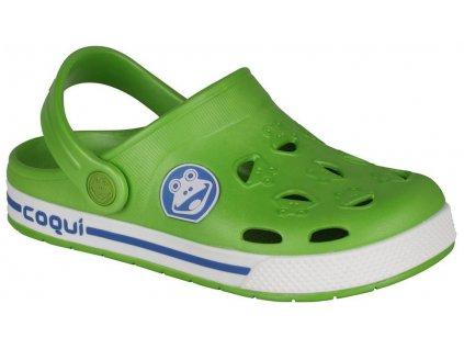 Dětské kroksy COQUI 8801 zelené (Barva Zelená, Velikost 29)