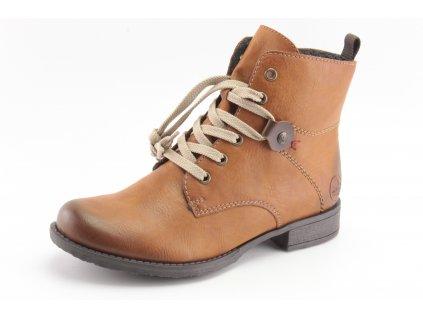 Dámské boty zimní Rieker DZ 70842-22 (Barva hnědá, Velikost 42)